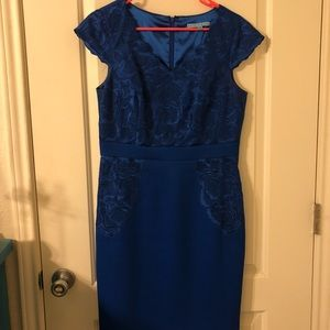 Cobalt Blue Midi with Floral Accents for Business